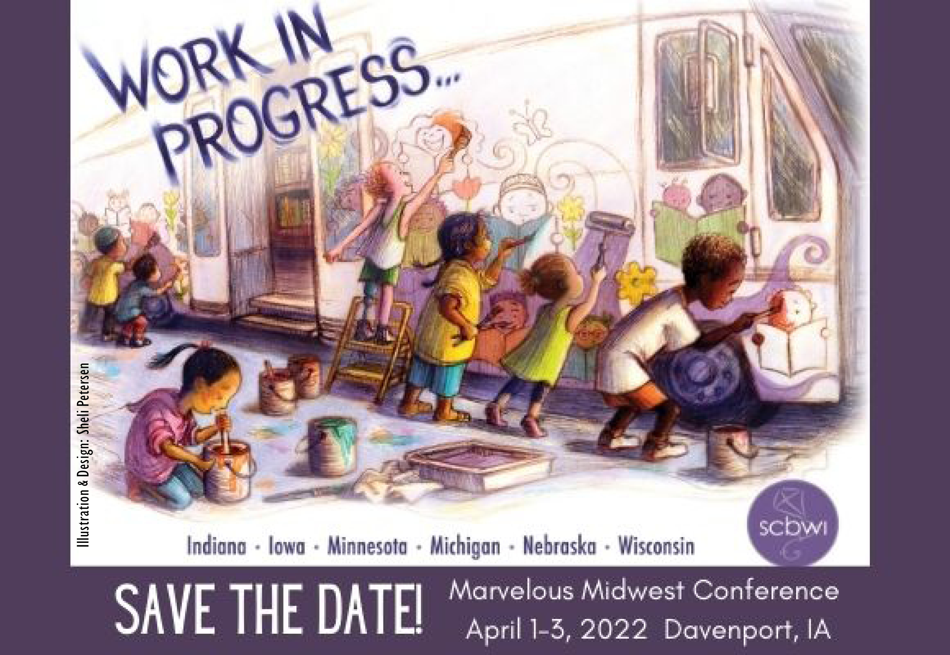 Save the Date for the 2022 Marvelous Midwest SCBWI Conference! This multi-region conference is designed to give you a large SCBWI NYC or LA conference experience closer to home.  Featuring over 35 faculty members sharing content for writers and illustrators that will move your Works In Progress -- and your career -- forward. Make industry connections. Get a portfolio review or critique. Gain access to acquiring editors, agents, and art directors. Find your people and make lasting relationships.  Start your planning now to join in! Much more information to come. Stay tuned.