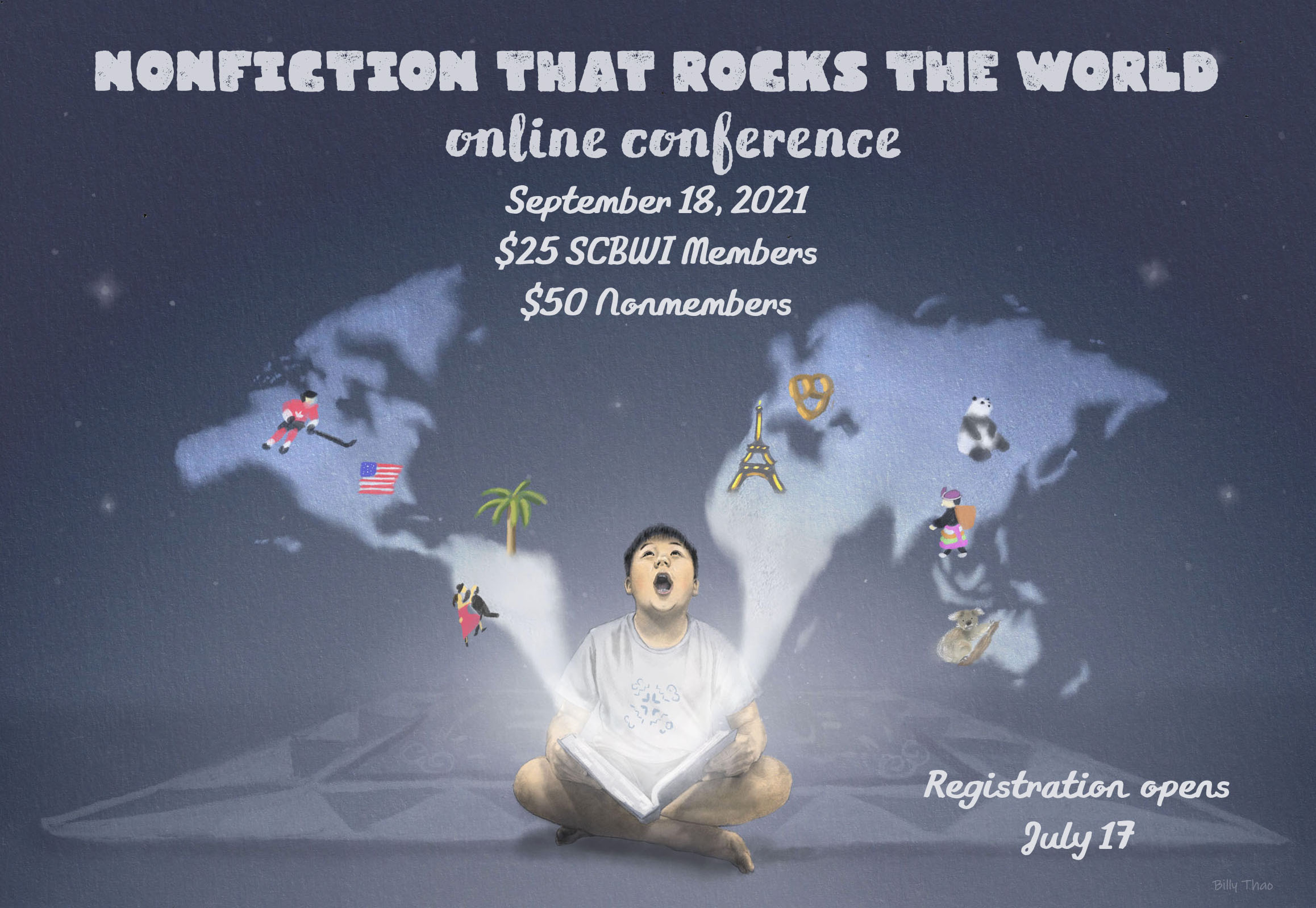 Non-Fiction That Rocks the World! September 18th, 2021 -- Online Conference Registration opens July 17th. More information to come.